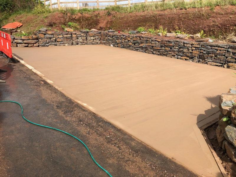 Complete Concrete Parkign Bay Devon