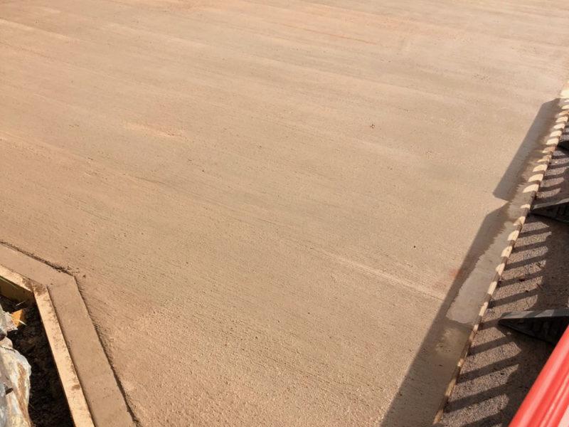 Concrete parking bay