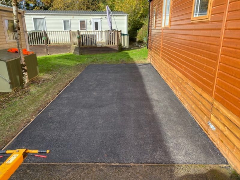 New tarmac parking space